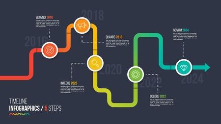 Five steps timeline or milestone infographic chart. Stock fotó - 90472726