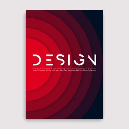 Brochure cover geometric design template. Illustration