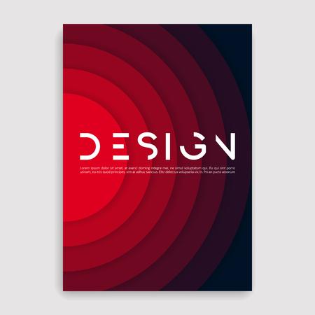 Modelo de design geométrico de capa de brochura.