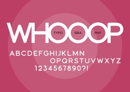 ウープは、通常のサンセリフ書体のデザインを丸めました。