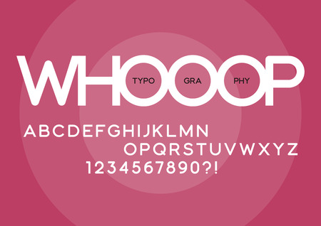 Whooop rounded regular sans serif typeface design.