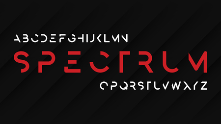 Spectrum regular futuristic decorative sans serif typeface desig Illustration