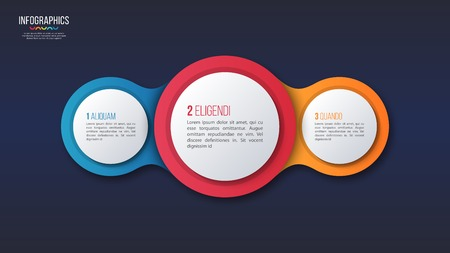Vector 3 options infographic design, presentation template. Global swatches Illusztráció