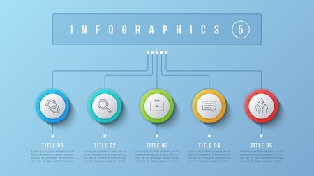Vector 5 options infographic design, structure chart, presentati 向量圖像