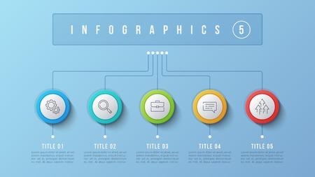 Vector 5 options infographic design, structure chart, presentati Ilustrace