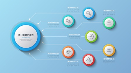 Vector 7 options infographic design, structure chart, presentati