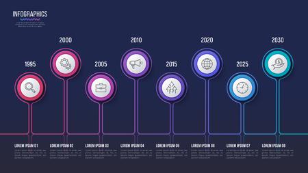 Vector 8 steps infographic design, timeline chart, presentation