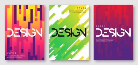 Abstract gradient geometric cover designs. Vectores