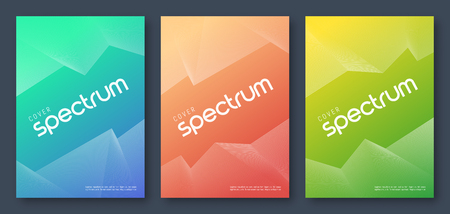 Minimalist abstract gradient geometric cover designs, trendy brochure templates, colorful futuristic posters. Vector illustration. Global swatches.