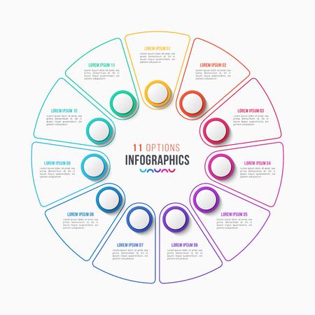 10 partes infográfico projeto círculo gráfico Foto de archivo - 94296916