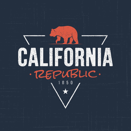 California republic. T-shirt and apparel design