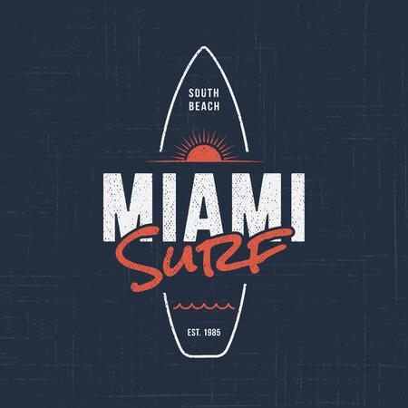 Surf de Miami en Floride. Conception de t-shirts et de vêtements