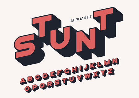 Styled sans serif bold letters with long shadow