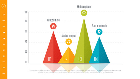 Textured infographic bar chart template with 4 options