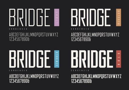 Condensed light regular semi-bold bold sans serif style.