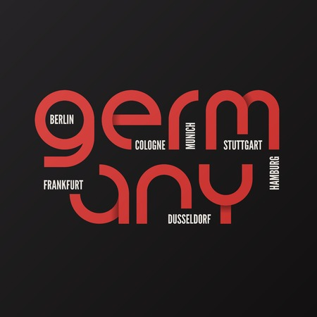 Germany vector t-shirt and apparel design, typography print. 向量圖像