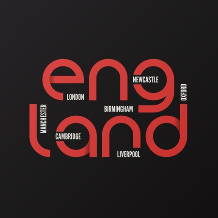 England vector t-shirt and apparel design, typography print.