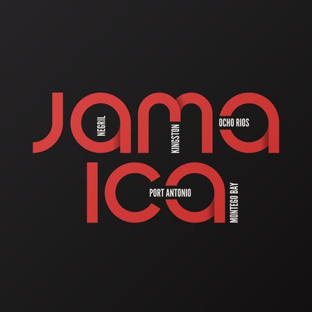 Jamaica vector t-shirt and apparel design