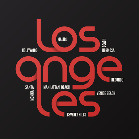 Los Angeles vector for your design