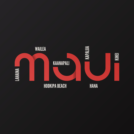 Hawaii Maui vector t-shirt and apparel design 向量圖像