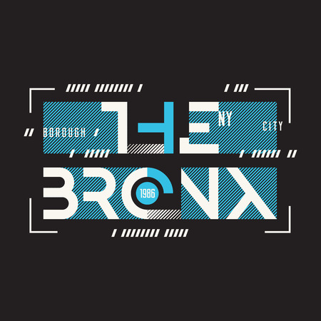The Bronx New York vector t-shirt and apparel geometric design,