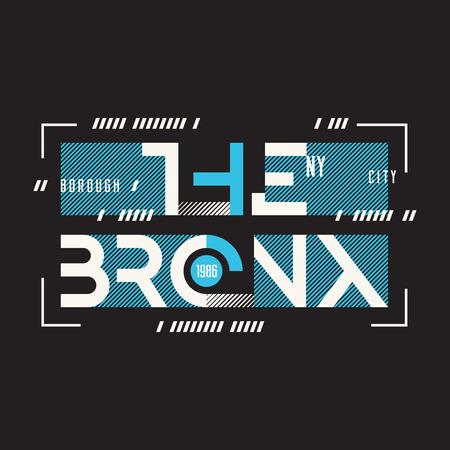 The Bronx New York vector t-shirt and apparel geometric design,
