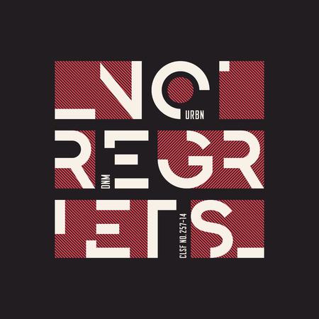 No regrets abstract geometric vector t-shirt and apparel design, Banco de Imagens - 97071987
