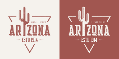 Arizona state textured vintage vector t-shirt and apparel design Vectores