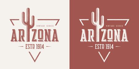 Arizona state textured vintage vector t-shirt and apparel design Stock Illustratie