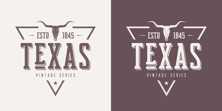 Texas state textured vintage vector t-shirt and apparel design,