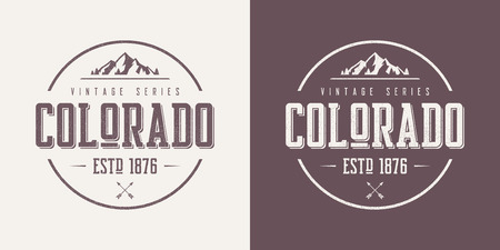 Colorado state textured vintage vector t-shirt and apparel design