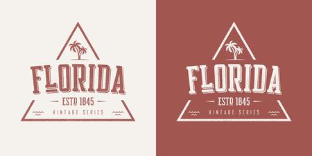 Florida state textured vintage vector t-shirt and apparel design. Illustration