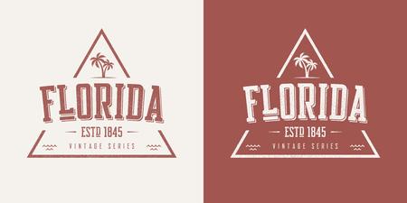 Florida state textured vintage vector t-shirt and apparel design Illustration
