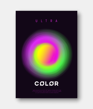 A4 size vector abstract colorful gradient liquid futuristic design isolated on plain background.