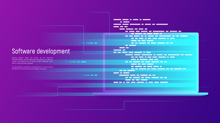 Software development, programming, coding vector concept Global swatches