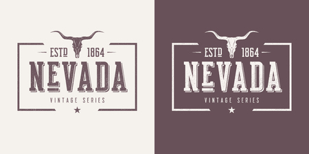 Nevada state textured vintage vector t-shirt and apparel design, typography, print, logo, poster. Global swatches.