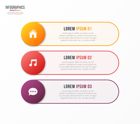 Infographic template with 3 options. Vector design for web, adve