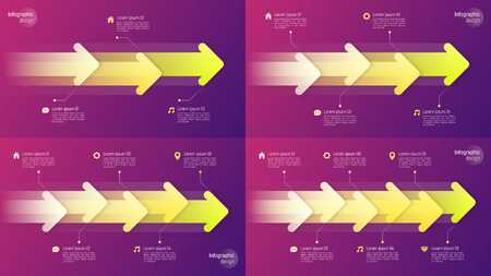 Paper style timeline infographic concepts with dynamic arrows Stock fotó - 102089126