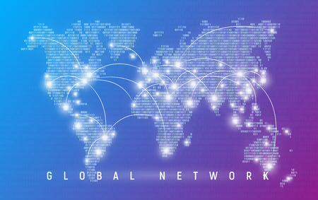 Global network, worldwide communication and connections