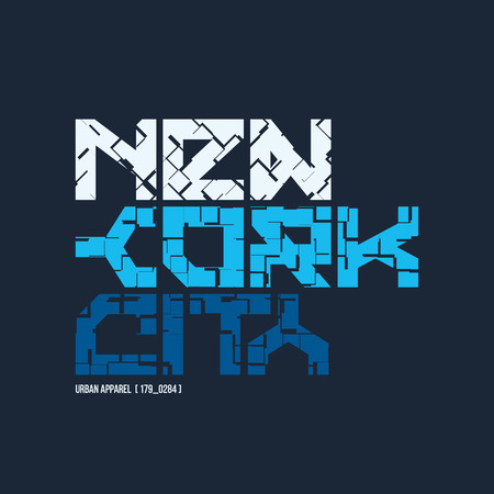 New York City styled vector t-shirt and apparel design, typography.