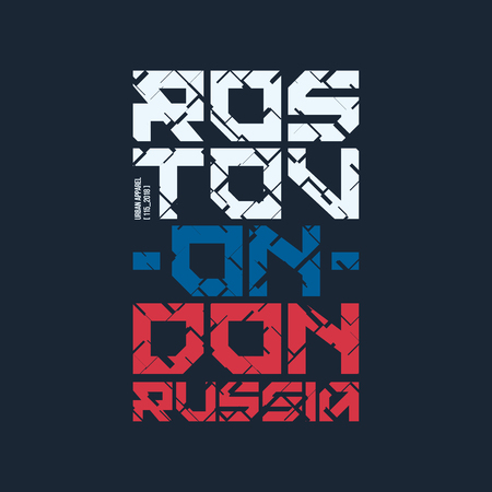 Moscow tech design styled vector t-shirt and apparel design. 일러스트