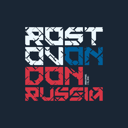 Rostov on Don Russia styled vector t-shirt and apparel design.