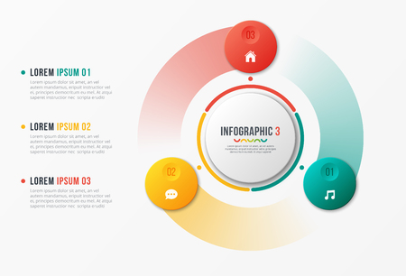 Rotating circle chart template, infographic design, visualizatio 일러스트