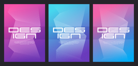 Abstract gradient minimalist vector cover designs with grain eff