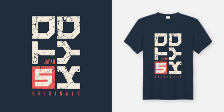Tokyo Japan textured t-shirt and apparel design, typography, pri