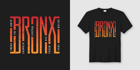 The Bronx stylish t-shirt and apparel design, typography, print,