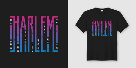Harlem New York stylish t-shirt and apparel design, typography,