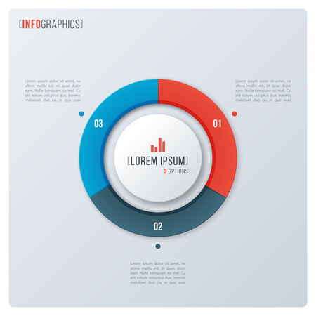 Modern style circle donut chart, infographic design, visualizati Banque d'images - 104461531