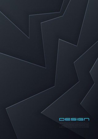 Vector abstract paper cut background, futuristic cover design, trendy brochure template. Global swatches.