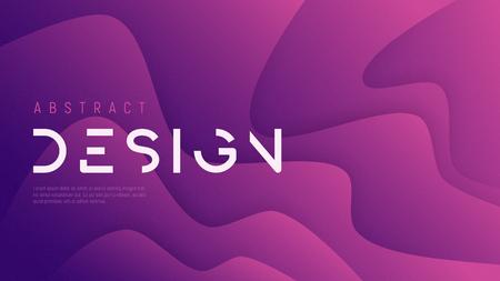 Vektor abstrakter gewellter Hintergrund, trendiges minimalistisches futuristisches Design mit Geräuschstruktur. Globale Farbfelder.
